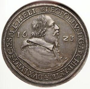 1623-AUSTRIA-King-LEOPOLD-V-Antique-OLD-Silver-Thaler-Austrian-Coin-NGC-i83715