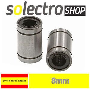 2x-Rodamiento-Lineal-Lm8uu-8mm-Cojinete-Bolas-Impresora-3d-Reprap-Prusa-I0068