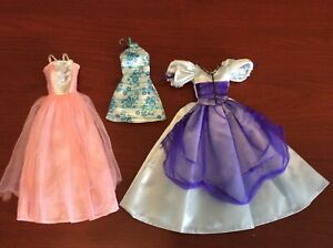 Lot-of-3-Doll-Clothes-For-Barbie-amp-Other-Dolls-Formal-Gown-Dress-Long-Dress