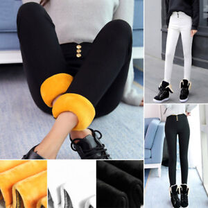 Women-Winter-Thermal-Thick-Fleece-Lined-Trousers-Pencil-Pants-Skinny-Leggings