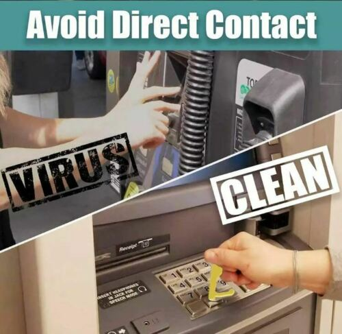Antimicrobial No Touch Virus Prevention Sanitary Door Opener Button Pusher NEW