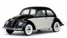 1961 VOLKSWAGEN BEETLE SALOON BLACK/WHITE 1/12 DIECAST MODEL CAR BY SUNSTAR 5207