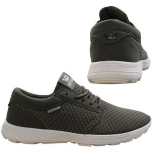 67f31a1d16e0 Supra Hammer Run Lace Up Mens Casual Running Trainers Grey 08128 157 ...