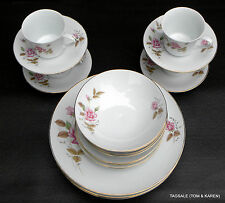 CX142 PINK ROSE by CHINA MADE IN CHINA ~20 PIECE SET ~ DINNER FOR 4, 8, OR 12