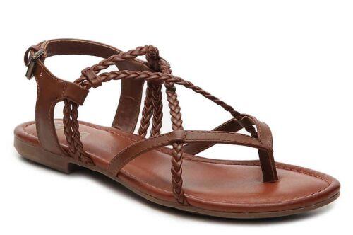 MIA Womens /'Dannie/' Brown Braided Thong Sandals Sz 8.5-232576