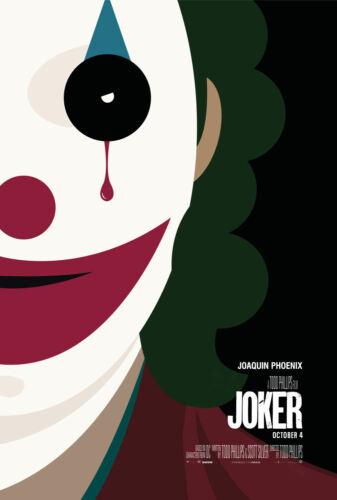 P886 Joker Movie Joaquin Phoenix DC Comic Silk Decor Poster 24x36 14x21