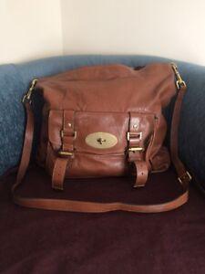 a7183a835b Mulberry Alexa Hobo Cross Body Bag In Oak Brown Leather W  Dust bag ...
