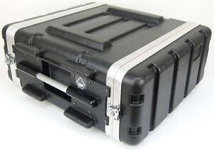 """TEGO PRO Kunststoffrack 19"""" 4HE Hartschalenrac<wbr/>k Effektrack Kunststoff Rack Case"""