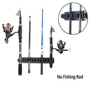 VERTICAL 10-ROD STORAGE RACK WALL MOUNTED Boat//Fishing//Rod Holder//Garage//Home