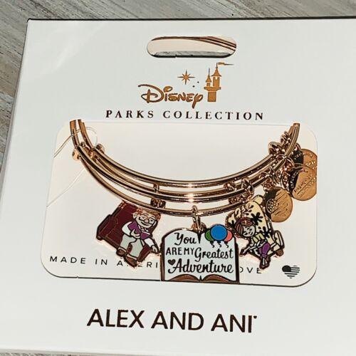 Disney Alex /& And Ani UP Carl Ellie Greatest Adventure Rose Gold Bracelet