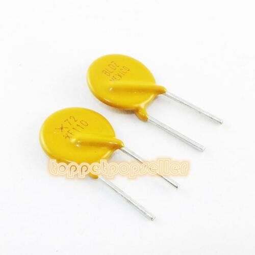 10Pcs RXEF110 72V 1.1A PTC//PPTC PolySwitch Resettable Fuse Protection