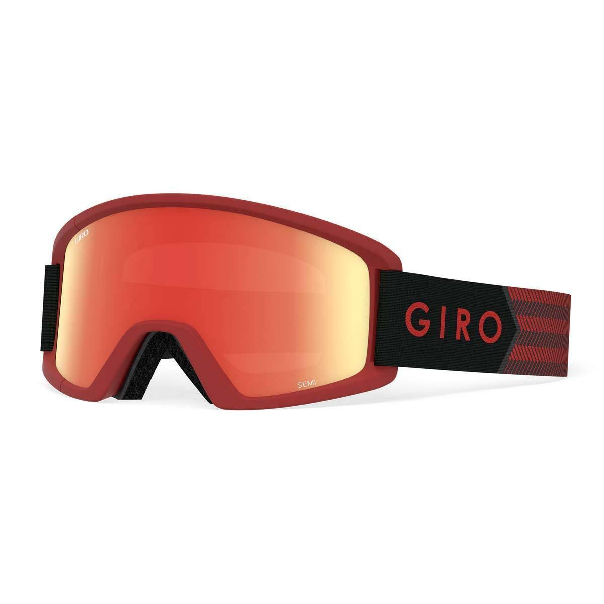 Giro Semi Snow Goggles Dark Red Sierra - Amber Scarlet Yellow