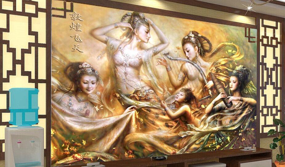 3D Exotische Mädchen Bild 753 Tapete Wandgemälde Tapete Tapeten Bild Familie DE