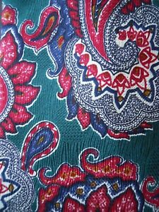Donatello-Tie-Paisley-Red-Green-Multi-Color-Mens-Necktie-Silk