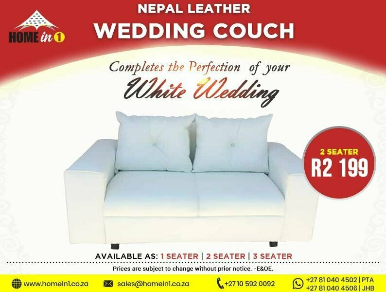 2 seater wedding couch
