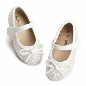 BFEERgirl Baby Girls Bowknot Shoes Soft Sole Princess Mary Jane Flat Shoes for Infant Toddler