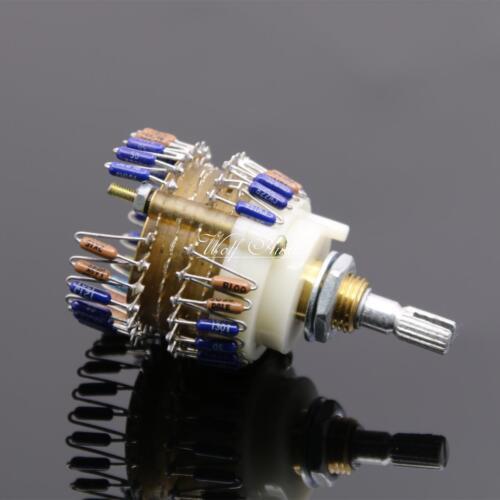 1pcs Dale 23 Step Attenuator Dual-Channels 2*100k audio Volume Potentiometer
