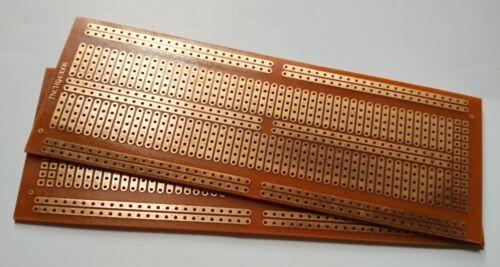 2pcs 4.8x13.4cm Stripboard Prototype circuit perf board Bus Breadboard vero pcb
