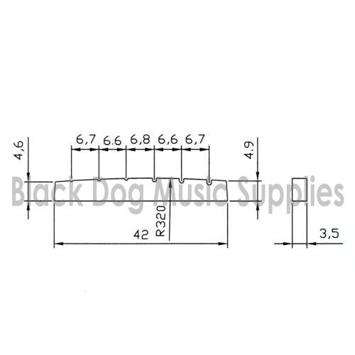 Qualität Knochen Obere Nut Gitarre 42mm X 3.5mm Strat /& Tele Typ