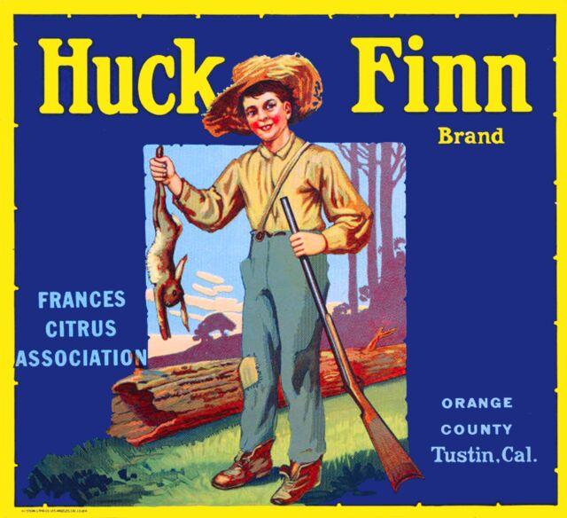 Tustin Cowboy #2 Orange Citrus Fruit Crate Box Label Art Print