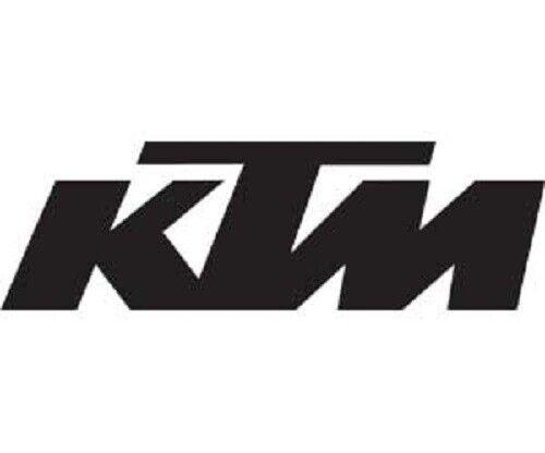 "KTM 4/"" DIE-CUT DECAL BLACK KTM LOGO STICKER #U6951282 FREE SHIPPING!"