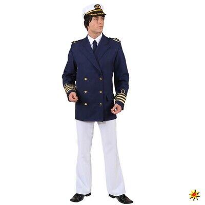 Admiral Jacke Gr. 50 64 Kapitän Matrose Kostüm Jacket Mariene Offizier Karneval   eBay