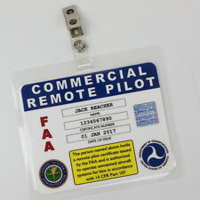 FAA sUAS Drone Commercial Remote Pilot Badge with Your Name & Certificate Number