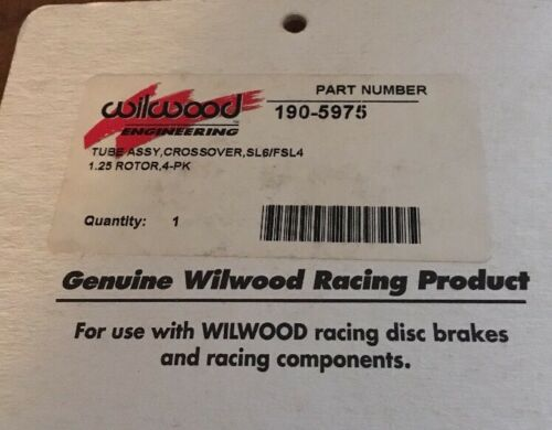 NOS Wilwood 190-5975 Crossover Tubes SL6//FSL4 caliper 1.25 rotor 4 pack