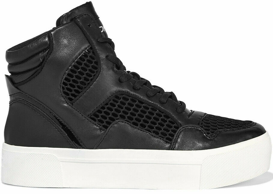 DKNY shoes women BOSLEY HIGH-TOP SNEAKERS BOOTS Tg. 37.5   23452277