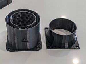 Funnel fan shroud  - Decibel Reducer plus fan shroud vent adapter ₿ complete set
