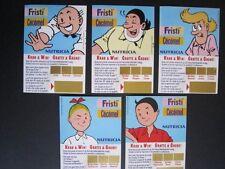 Suske & Wiske/Bob & Bobette - 5 stickers Fristi/cécémel; ongekrast; complete set