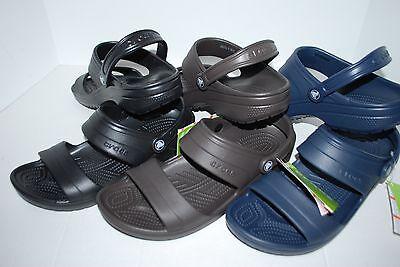 NWT CROCS CLASSIC SANDAL ESPRESSO BROWN BLACK NAVY 9 10 11 12 UNISEX shoe SLIDES