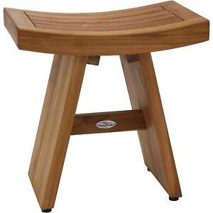 Teak Wood Shower Bench Bath Room Seat In Out Door Patio ...