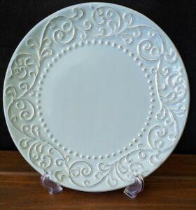 "Jessica McClintock Heather Glen 10 5/8"" Dinner Plate Signed Blue - EUC"