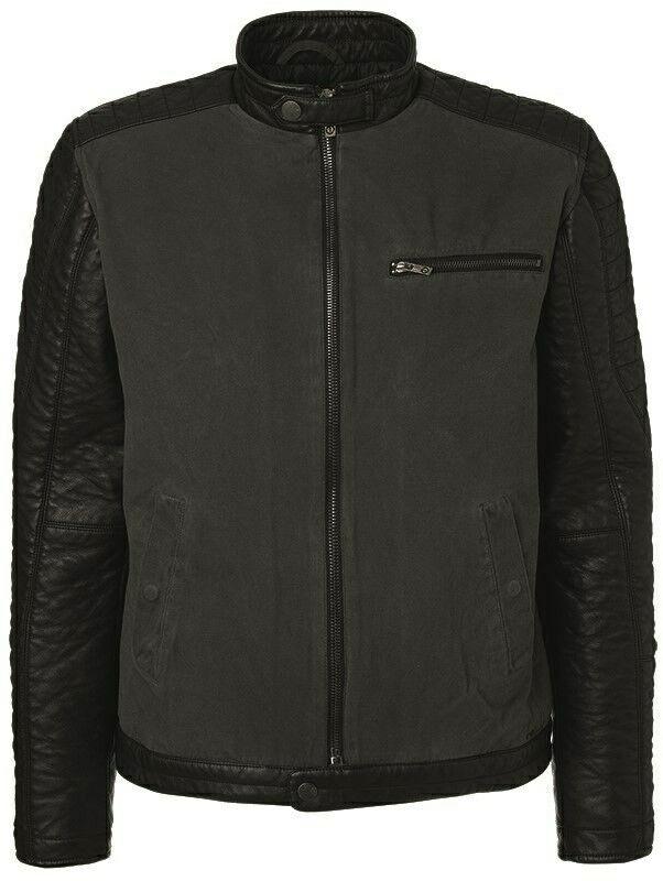 Solid DeWitt Hommes Veste Veste en cuir aspect Teilleder Taille S-M Noir NEUF