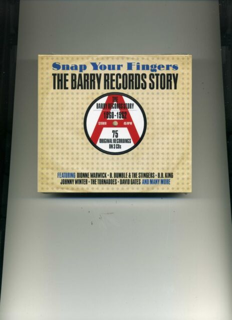 SNAP YOUR FINGERS - THE BARRY RECORDS STORY - B. B. KING ECHOES - 3 CDS - NEW!!