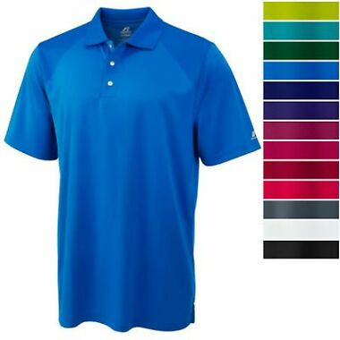 Russell Athletics Men&#39s Golf Polo Athletic Short Sleeve Breathable Tee