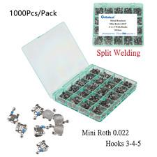 50sets Orthodontic Metal Brackets Split Braces Marked Mini Roth 022 Hooks 3 4 5