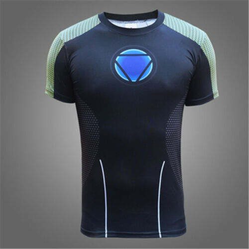 3D Iron Man 3 Tony Stark Arc Reactor Men Short//Long T-Shirt Cosplay Tops Tee HOT