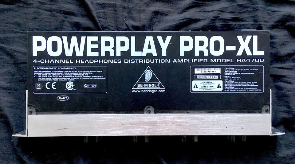 Headphone splitter unit, Behringer Powerplay Pro XL