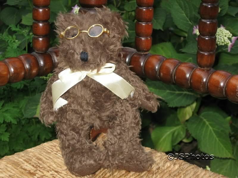 UK marrone Teddy Bear with Glasses RARE