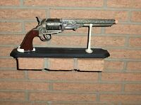 Colt 1851 Navy Revolver Replica W/stand, Civil War Era - Non-firing