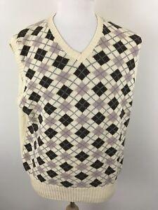 Men-039-s-Ralph-Lauren-Polo-Golf-Sweater-Vest-Argyle-Cotton-Wool-Multicolored-XL