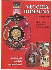 W0598 Vecchia Romagna etichetta nera - Pubblicità 1971 - Advertising