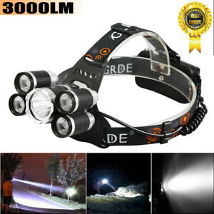 Rechargeable-T6-LED-30W-Headlight-Super-Bright-Flashlight-3000LM-Headlamp