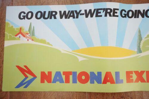1970s National Express Bus Interior Poster 60cm x 20cm VGC