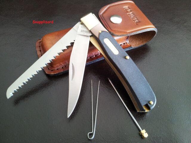 Schrade Old Timer Buzzsaw Trapper 97OT+ Leather Belt Pouch Folding Pocket knife