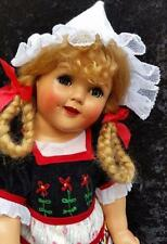 """MUST SEE 18"""" Ideal Doll Shirley Temple Heidi Doll Composition doll"""