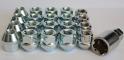 Alloy Wheel Nuts 99-16 16 12x1.5 Bolts Tapered for Mazda Bongo Mk2