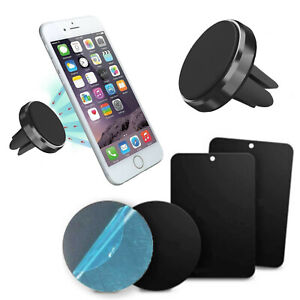 Magnet-Mobile-Phone-Car-Holder-Air-Vent-Mount-With-4-Spare-Adhesive-Plates